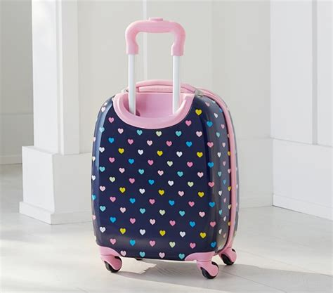 pottery barn suitcase lavender rainbow sided spinner luggage pottery barn