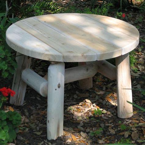 Proctor low round wood coffee table. Lakeland Mills 25 Inch White Cedar Log Wood Round Patio ...