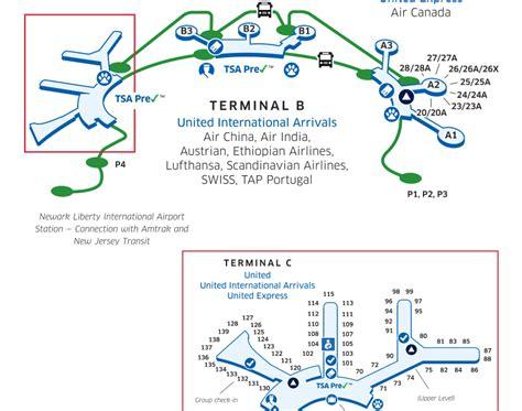 Ewr Airport Map Terminal B