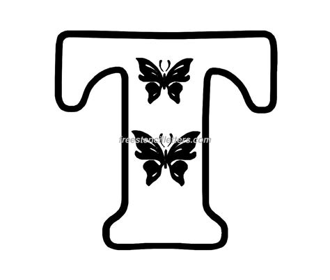 Letter Print by Butterfly Stencil Letters Archives Free Stencil Letters