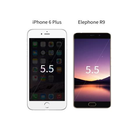 iphone screen ratio elephone r9 vs iphone 6 plus screen ratio comparison