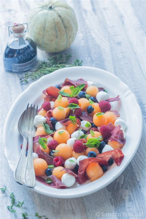 cuisine addict com fruity salad with melon mozzarella bresaola cuisine