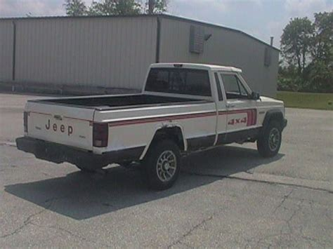 1986 jeep comanche 4x4 buy used 1986 jeep comanche xls 4x4 long bed in red lion