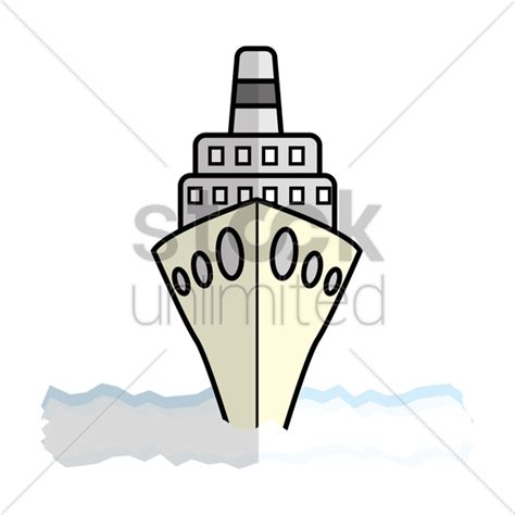 Boat Front View Drawing by Cruise Ship Front View Vector Image 1316555 Stockunlimited