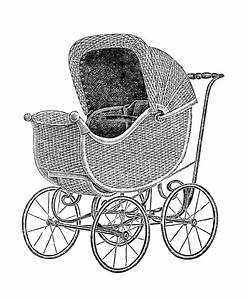 Antique Images: Free Baby Carriage Graphic: Vintage Wicker ...