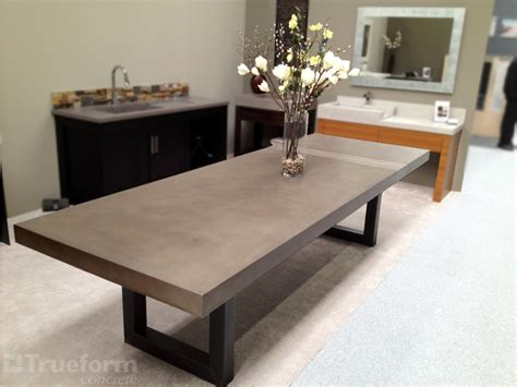 contemporary dining table  trueform concrete trueform
