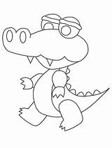 Coloring Alligator Pages Printable Colouring Preschool Popular Library Clipart sketch template