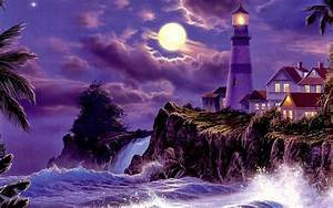 Beauty of moonlight at night sky near sea poetic nature images