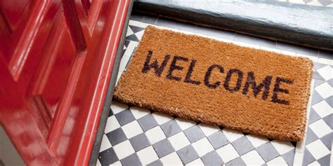 welcome home doormat houseguest to live by anywhere in the world huffpost