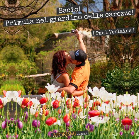 Frase Con Immagine Bacio! Primula Nel Giardino Delle Carezze