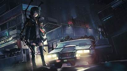 Anime Police Cars Characters Wallpapers Background Desktop