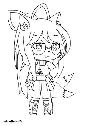 gacha life coloring pages animationsaz