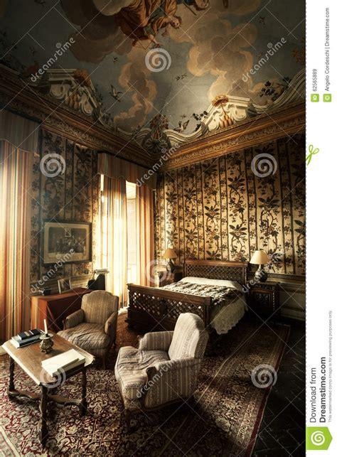 bedroom vintage room nineteenth century stock photo