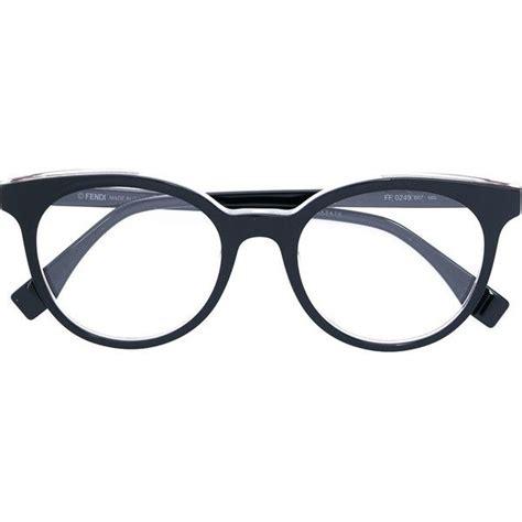 Fendi Eyewear round frame glasses ($290) liked on Polyvore
