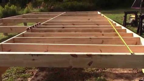 """Installing cabin floor joists 16"""" OC   YouTube"""