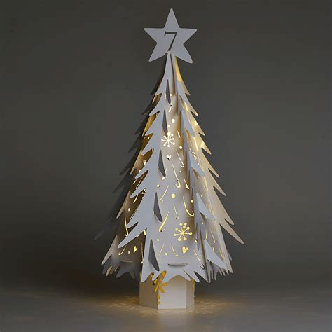 large white laser cut christmas tree for weddings and events