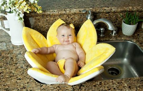 blooming bath  flower shaped baby support  sink baths