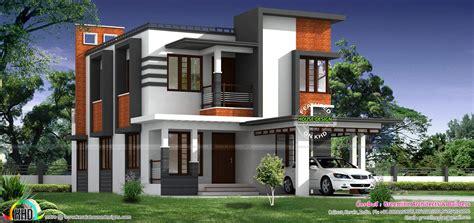 sq ft nice modern house kerala home design  floor plans