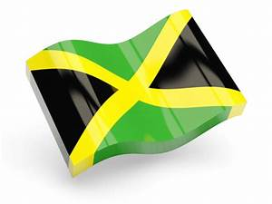 Glossy wave icon. Illustration of flag of Jamaica