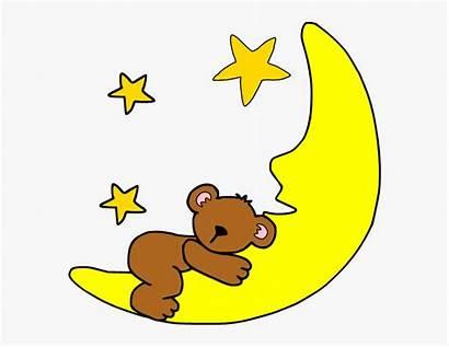 Moon Cartoon Clip Clipart Sleep Kindpng