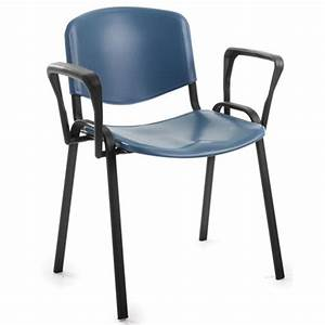 Iso plastic stacking chair with arms next day delivery for Plastic chair with arms
