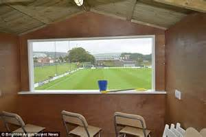 Lewes football club unveils beach huts with food and free ...