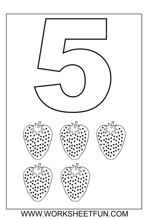 free coloring pages of number 5 trace