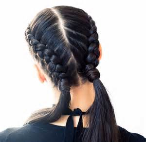 Bun Stands For by The Boxer Braid Aka Double French Braid A How To Coveteur