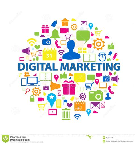 Marketing Free by Digital Marketing Concept Stock Vector Image Of Global