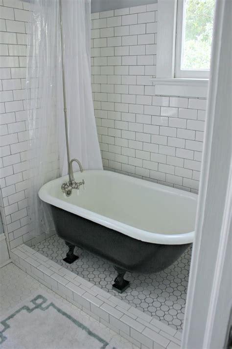 Small Bathroom Ideas Clawfoot Tub by Clawfoot Tub Enclosed With Glass On Tile Floor