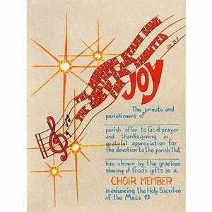 Certificate Choir Member Appreciation Trinity Church
