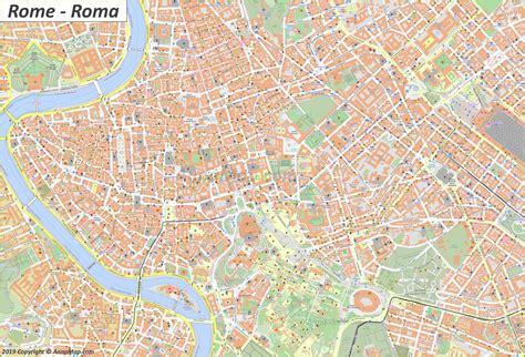 detaillierte touristische stadtplan von rom italien