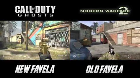 call of duty 48 favela mw2 vs new favela ghosts favela map