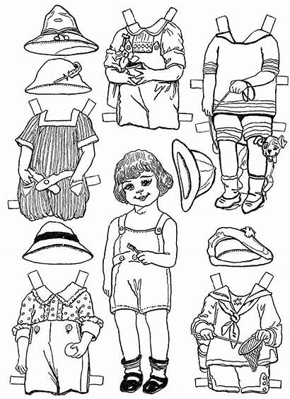 Paper Doll Coloring Pages Dolls Crafts Printable