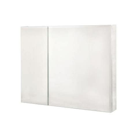 home depot medicine cabinet with mirror pegasus 36 in x 30 in recessed or surface mount medicine