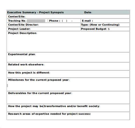 free executive summary template 9 executive summary templates for free sle templates