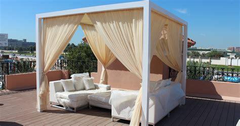 rattan bedroom furniture aluminium cabana in dubai 300x300cm size