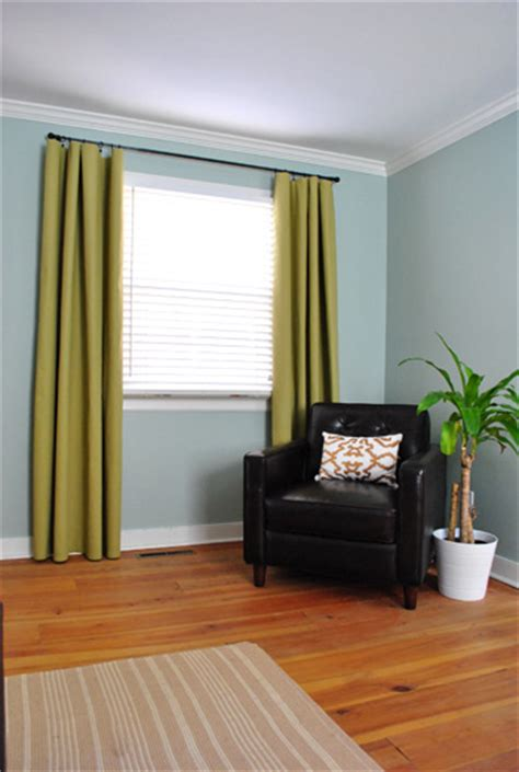 no sew bedroom curtains with fabric and hem