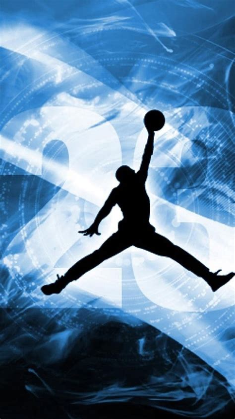 blue jordan logo wallpaper gallery