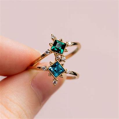 Ring Rings Opal Sierra Engagement Diamond Emerald