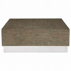 Lucius industrial loft grey teak wood polished steel for Gray wood and metal coffee table
