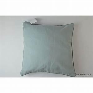 Housse De Coussins 40x40 : housse pour coussin 40x40 polyester lin coloris gris ~ Teatrodelosmanantiales.com Idées de Décoration