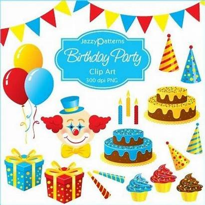 Birthday Clipart Cards Invitations Cake Scrapbooking Hats