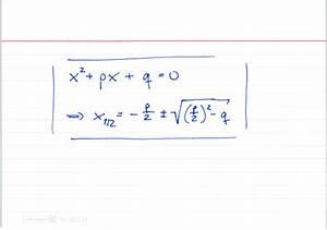 Kurvendiskussion Berechnen : p q formel lernwerk tv ~ Themetempest.com Abrechnung