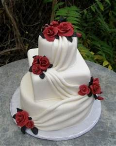 Cake Place: Red and White Wedding Cake