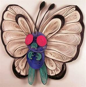 Paper Quilling Butterfree - 012 by wholedwarf on