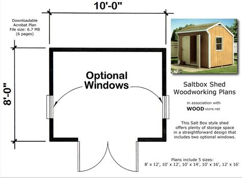 more 8x10 barn shed plans jans