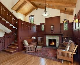 arts and crafts homes interiors vintage house interior design with fireplace and wall