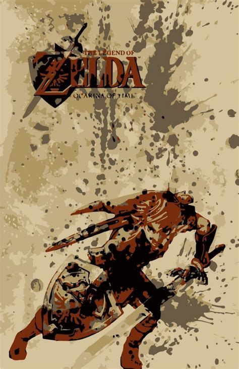 The best game for me is ocarina of time so i make a illustration for the hero of time. Zelda: Ocarina of Time Poster | Legend of zelda, Zelda, Ocarina of time