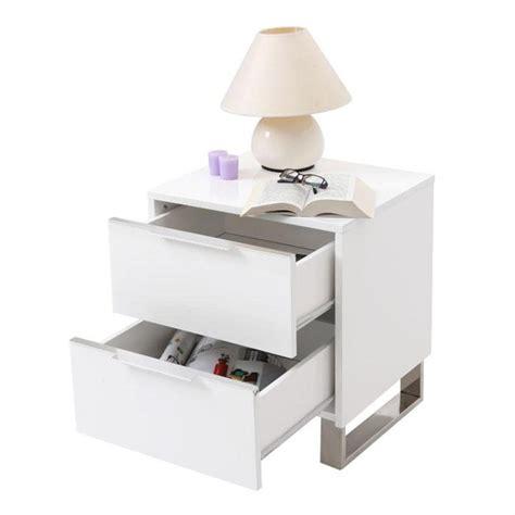 table de nuit design pas cher table de nuit design laqu 233 e blanche halifax achat vente
